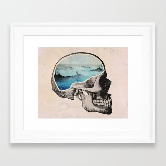 Brain Waves Framed Art Print