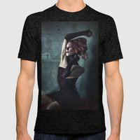 Grunge Moll Mens Fitted Tee Tri-Black SMALL