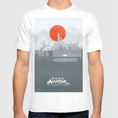 Avatar The Legend of Korra Poster Mens Fitted Tee White SMALL