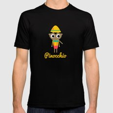 Pinocchio SMALL Mens Fitted Tee Black