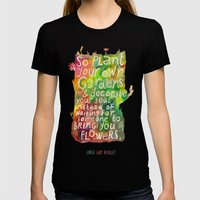 Jorge Luis Borges Womens Fitted Tee Black SMALL