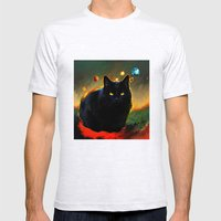 Black Cat Mens Fitted Tee Ash Grey SMALL