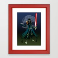 Judge Darth (alt) Framed Art Print
