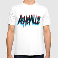 ASHEVILLE  Mens Fitted Tee White SMALL
