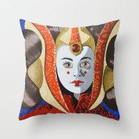 Queen Amidala Throw Pillow