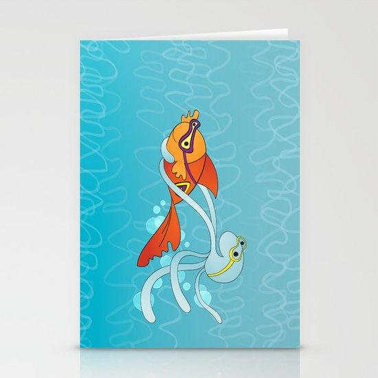 Goldfish & Octopus Stationery Card