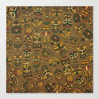 Tiki Masks Canvas Print