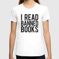 Banned Books REvised Womens Fitted Tee White SMALL