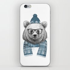 winter bear iPhone & iPod Skin