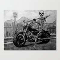 Skeleton Fat Boy Canvas Print