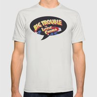 Big Trouble in Little China Mens Fitted Tee Silver SMALL