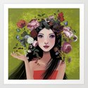 flowers in my hair Art Print