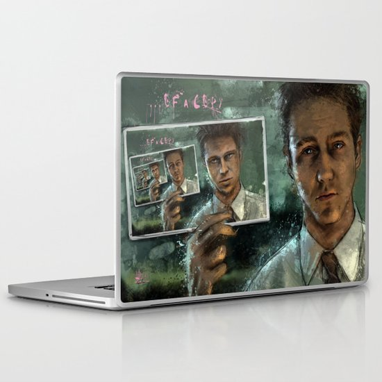 With insomnia, nothing's real. Everything's far away. Everything's a copy of a copy of a copy... Laptop & iPad Skin