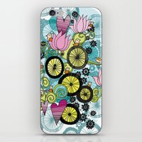 Bicycle Birds iPhone & iPod Skin