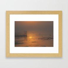 Sunrise on the Horicon Marsh Framed Art Print