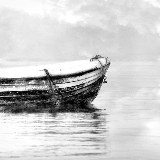 The boat b/w Art Print