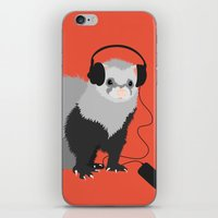 Music Loving Ferret iPhone & iPod Skin