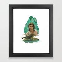 Seal Girl Framed Art Print