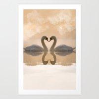 Love Of Swans Art Print
