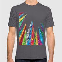 Up to the mountains Mens Fitted Tee Asphalt SMALL