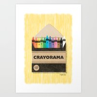 The White Crayon Art Print