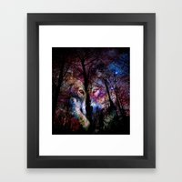 Wolf In The Forest Framed Art Print