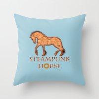 HORSE - Steampunk   Throw Pillow