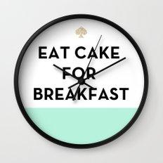Eat Cake For Breakfast -… Wall Clock