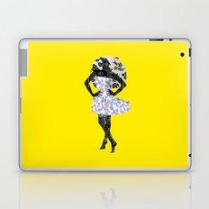 Paris Girl in Summer Plum Flower Pattern  Laptop & iPad Skin