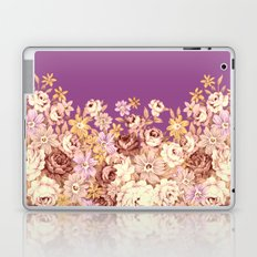 floral decor on purplish pink Laptop & iPad Skin