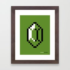 Mo Rupees Mo Problems (Green) Framed Art Print