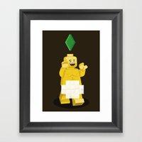 I Want To Brick Free ! Framed Art Print