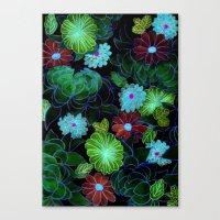 Oriental Blossom (night … Canvas Print