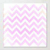 Pale Pink Textured Chevr… Canvas Print
