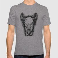 BULL Mens Fitted Tee Tri-Grey SMALL