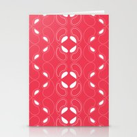 Nouveau Red Stationery Cards