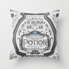 Legend of Zelda Blue Chu Potion Advertisement Throw Pillow
