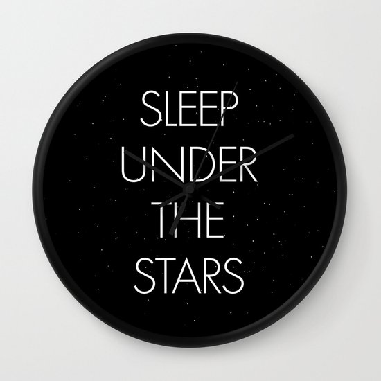 Sleep Under The Stars Wall Clock