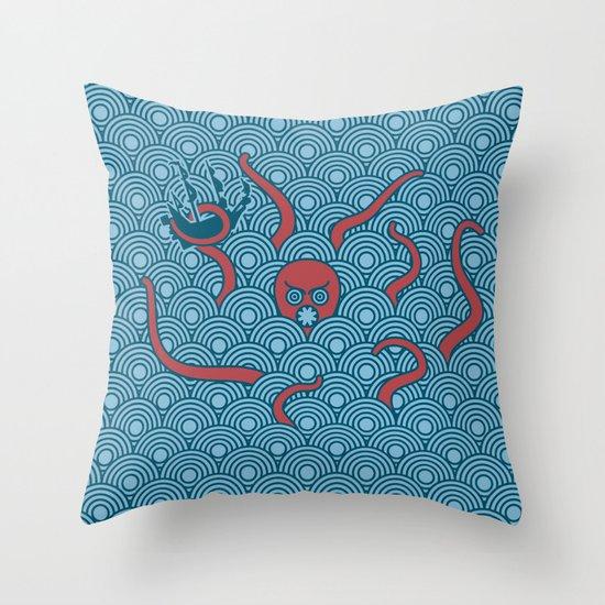 The Last Kraken Throw Pillow