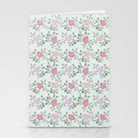 Rose Print Stationery Cards