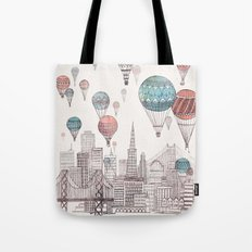 Voyages Over San Francis… Tote Bag