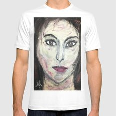 NICOLE MUNOZ Mens Fitted Tee White SMALL