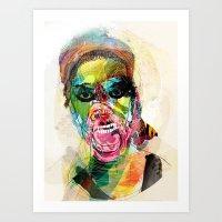 The Human Beast Art Print