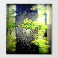 Charcoal Tree Canvas Print