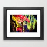 Fall Colors at Crescent Lake Lodge Framed Art Print