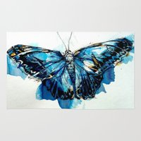 Mighty Morpho Butterfly Rug