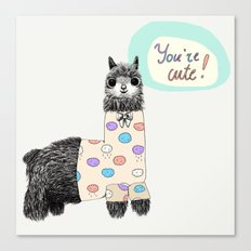 You are cute Canvas Print