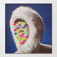 Canvas Print featuring Neon Big Foot by Alicia Ortiz