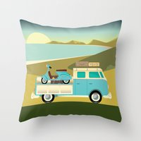 Vespavan Throw Pillow