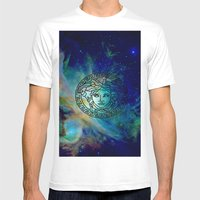 Versace Nebula  Mens Fitted Tee White SMALL